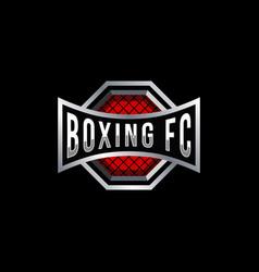 Boxing badge logo design vector