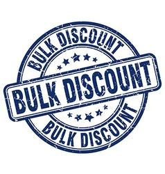 Bulk discount blue grunge round vintage rubber vector