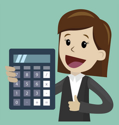 businesswoman and business woman with calculator vector image