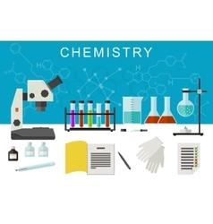 Chemistry flat banner vector