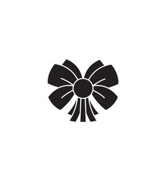 christmas flower black concept icon vector image