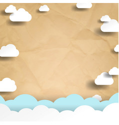 clouds with blue sky poster vector image