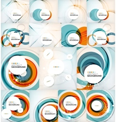 Color circles backgrounds set vector image