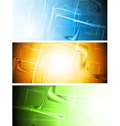 Colourful banners set vector image