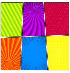 comic colorful frames vector image