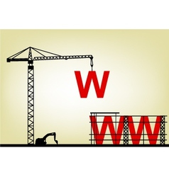 Construction web site vector