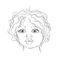 contour portrait child vector image