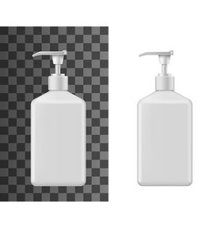 cosmetic bottle mockups liquid soap vector image