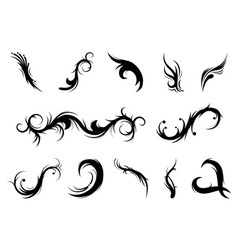 curly elements vector image