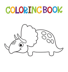 Cute dino coloring book vector