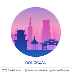 dongguan famous china city scape vector image