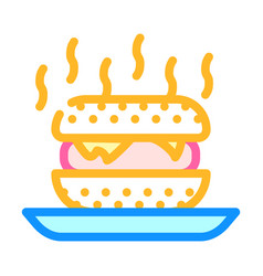 Fast food smell color icon vector
