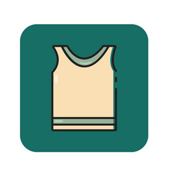 Flat color sportswear icon vector
