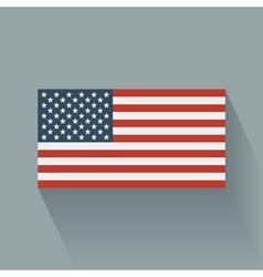 Flat flag usa vector