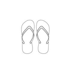flip flops flat icon vector image