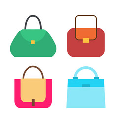 Four cute colorful handbags vector