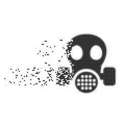 Gas mask dust pixel icon vector