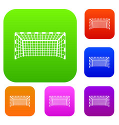 Goal post set color collection vector