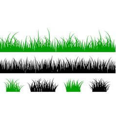grass silhouette lawn shape meadow landscape vector image