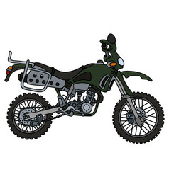 Green off road motorbike vector