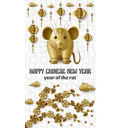 Happy chinese new year background with creative vector