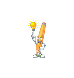 Have an idea pencil isolated on a white background vector