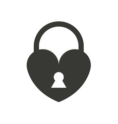 heart icon with padlock vector image