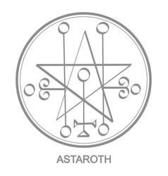 Icon with symbol demon astaroth vector
