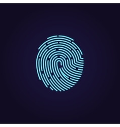Id app fingerprint icon vector