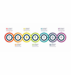 infographic timeline template with 7 steps vector image