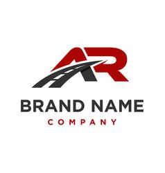 Initial logo ar transportation vector