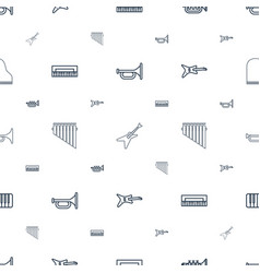 jazz icons pattern seamless white background vector image