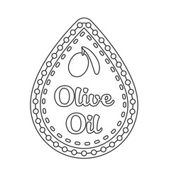 Label of olive oilolives single icon in outline vector