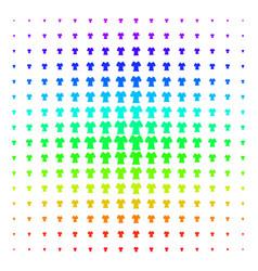 Lady t-shirt shape halftone spectral grid vector