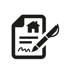 Lease contract icon on white background vector
