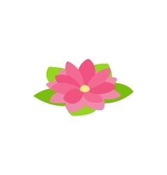 Lotus flower icon isometric 3d style vector image vector image