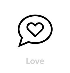 love message social icon editable line vector image