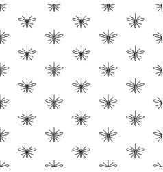 mosquito seamless pattern top view mosquito vector image