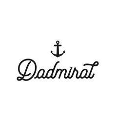 nautical adventure style vintage print design vector image