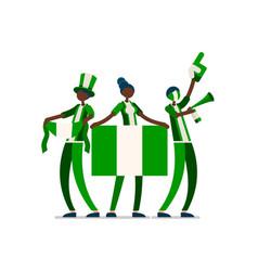 Nigerian flag nigeria people vector