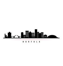 Norfolk skyline horizontal banner vector