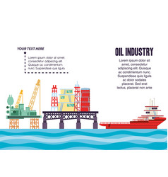 Oil industry with marine platform vector