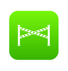 police line icon digital green vector image