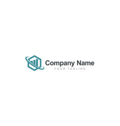 polygon global business finance logo vector image