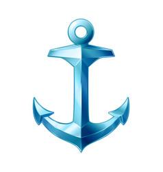 sea maritime icon anchor vector image