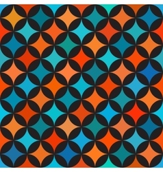Seamless Colorful Blue Orange Shades Circle vector