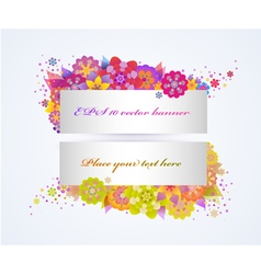 Set of bright floral banners vector image
