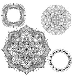 Set of circular patterns isolated vector