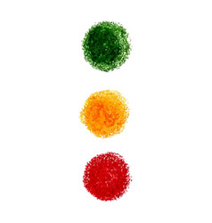 Set of crayon scribble texture stain isolated on vector