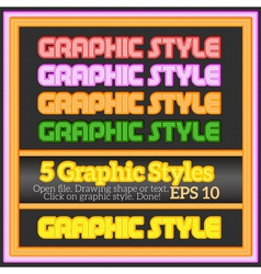 Set Of Various Colorful Graphic Styles vector